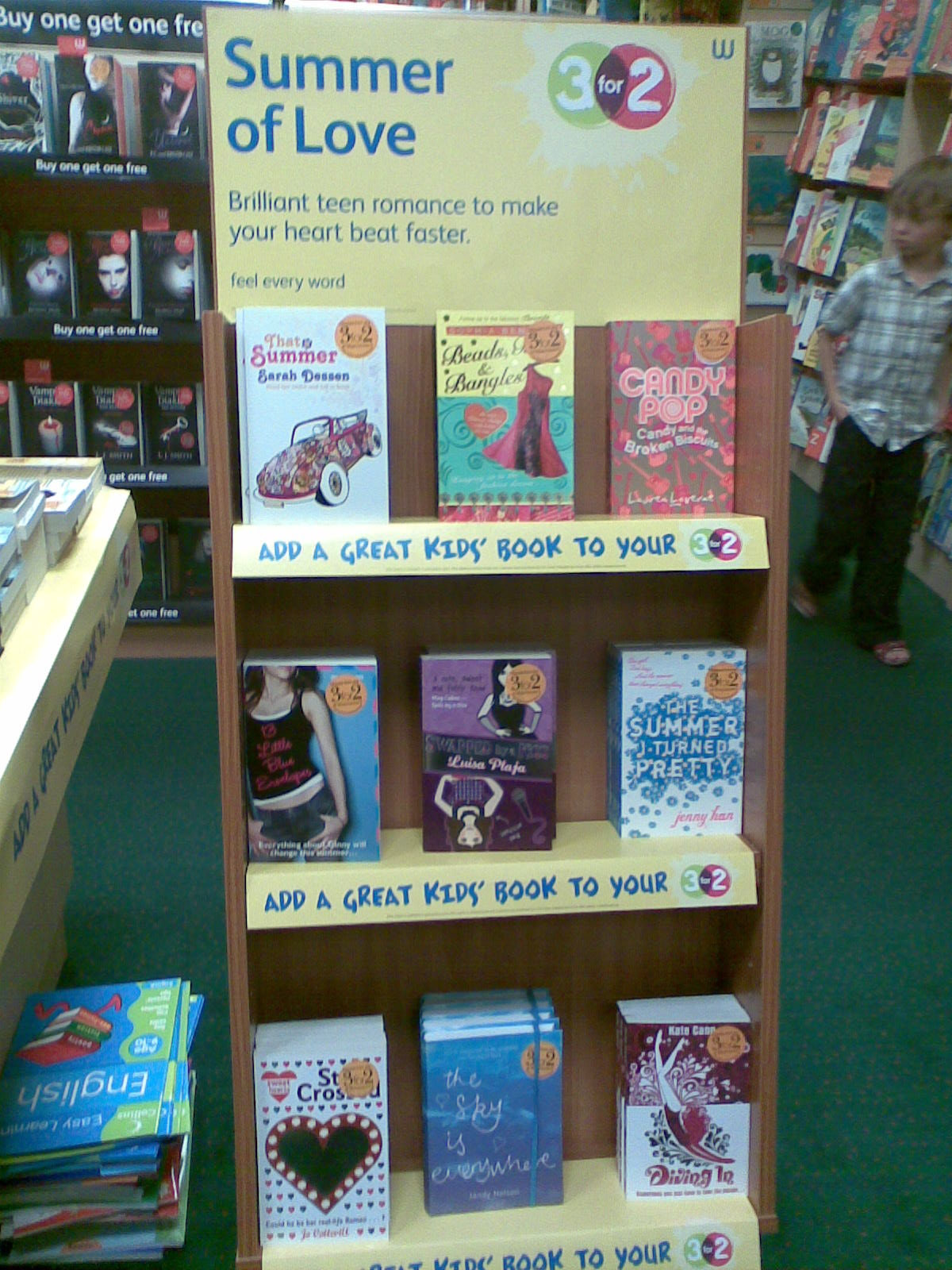 Summer Reading Promotion in Waterstone's