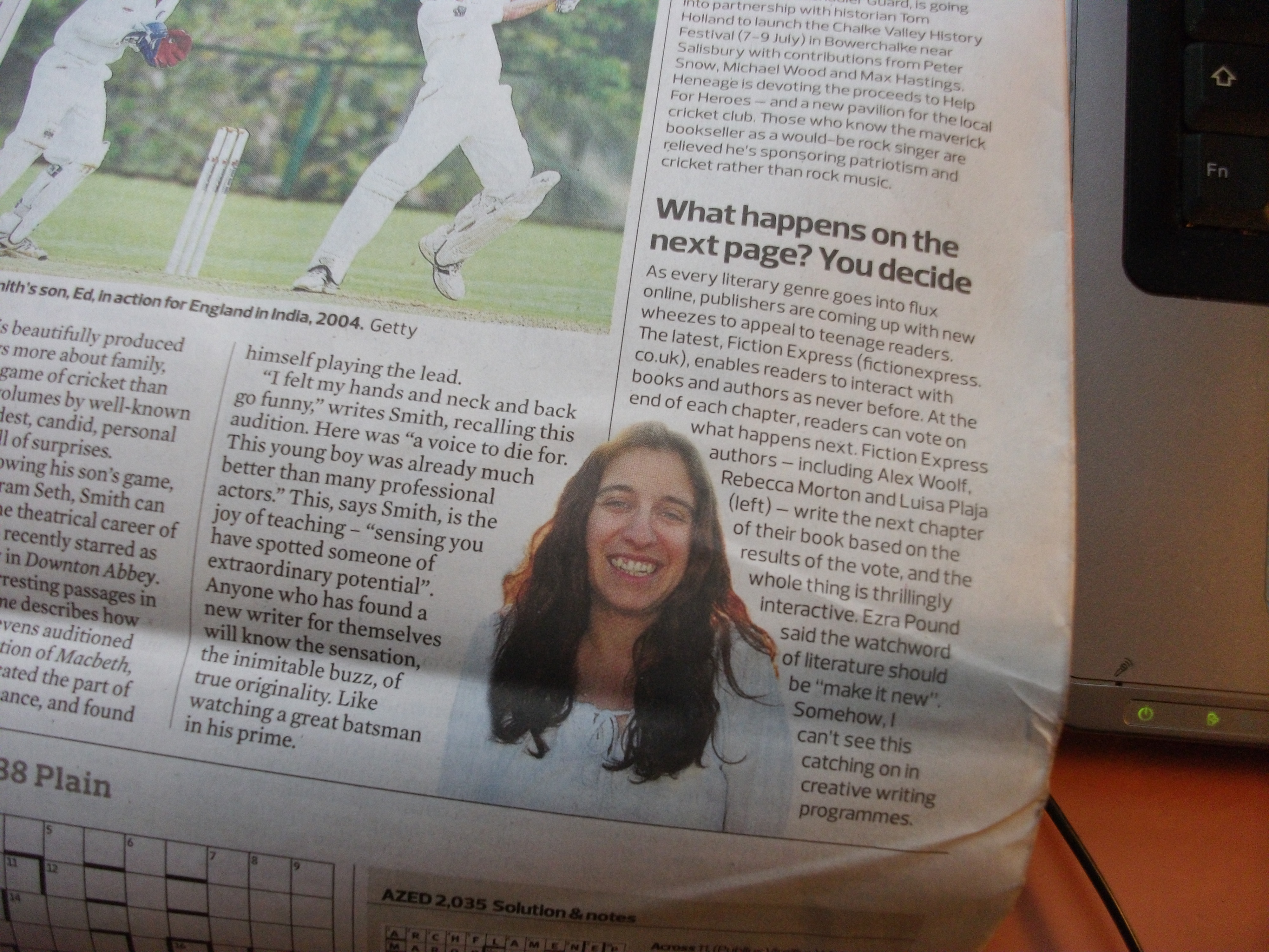 photo of Luisa Plaja in The Observer 19 June 2011