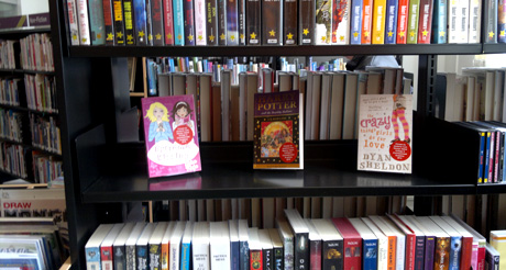 Newton Abbot Library shelves