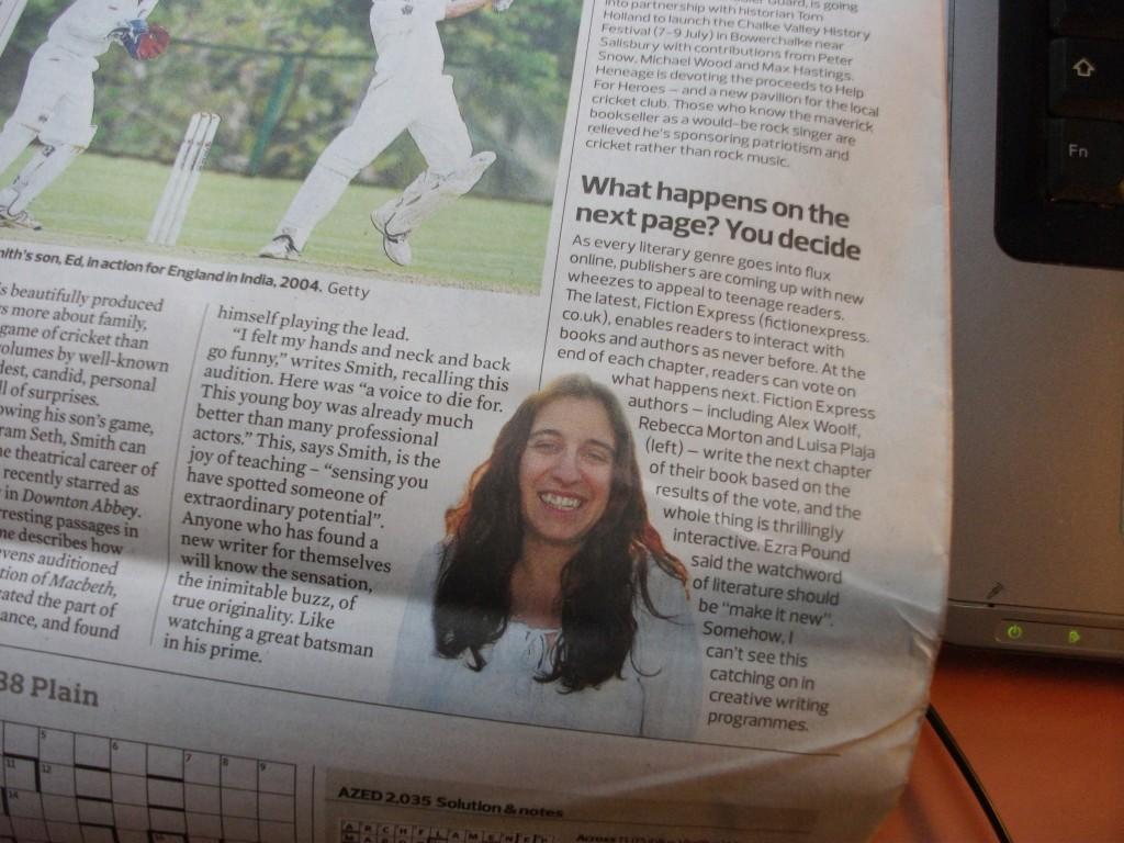 photo of Luisa Plaja in The Observer 19 June 2011