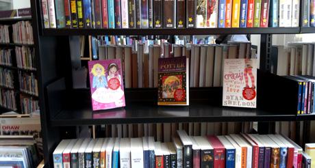 Newton Abbot Library shelves